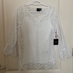Rafaella New with tag ! Size Small Lace Top
